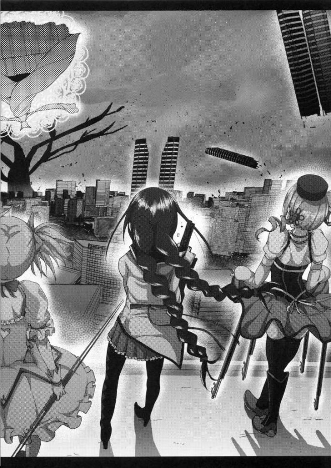 ちっぱいJCの暁美ほむらを絶望させる為に男達に襲わせてるww輪姦されて堕ちるかと思ったら・・・<まどマギ エロ漫画・エロ同人誌30