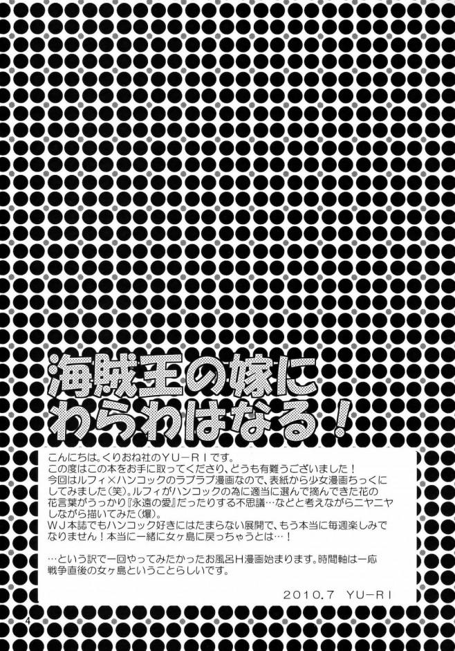 ワンピ エロ漫画・エロ同人誌|ルフィとハンコックがお風呂に入ってラブラブセックスwww t_003