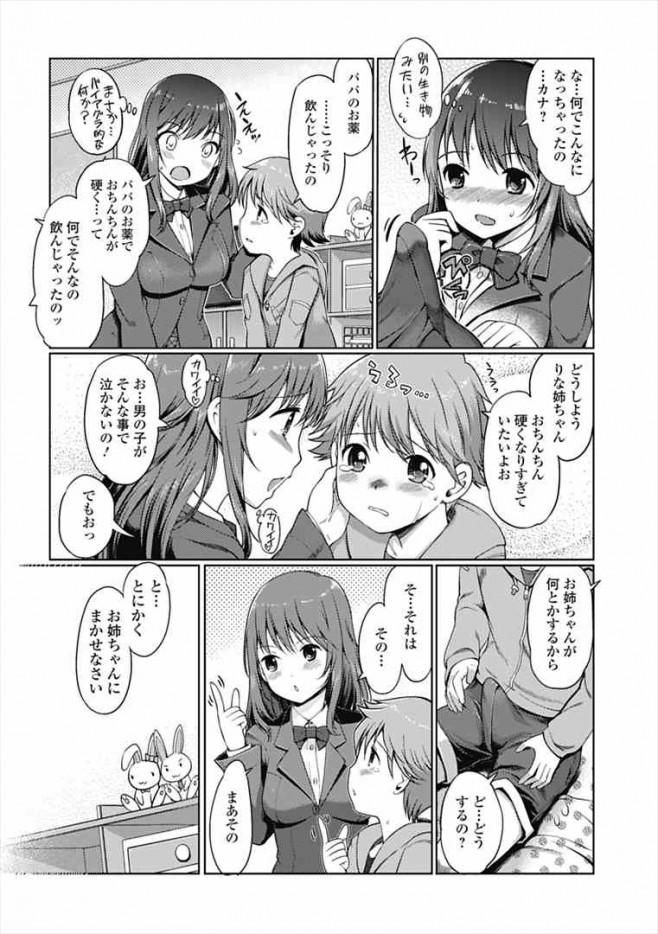 ショタっ子が勃起治まんなくて泣いてるから巨乳女子校生のお姉さんが抜いてあげちゃうww dl (3)