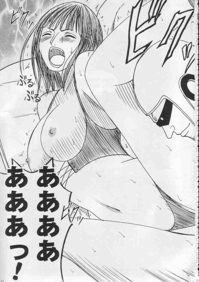 <ワンピースエロ漫画・エロ同人誌>ロビンがエッチな奴らに2穴輪姦セックスされちゃってるーww19