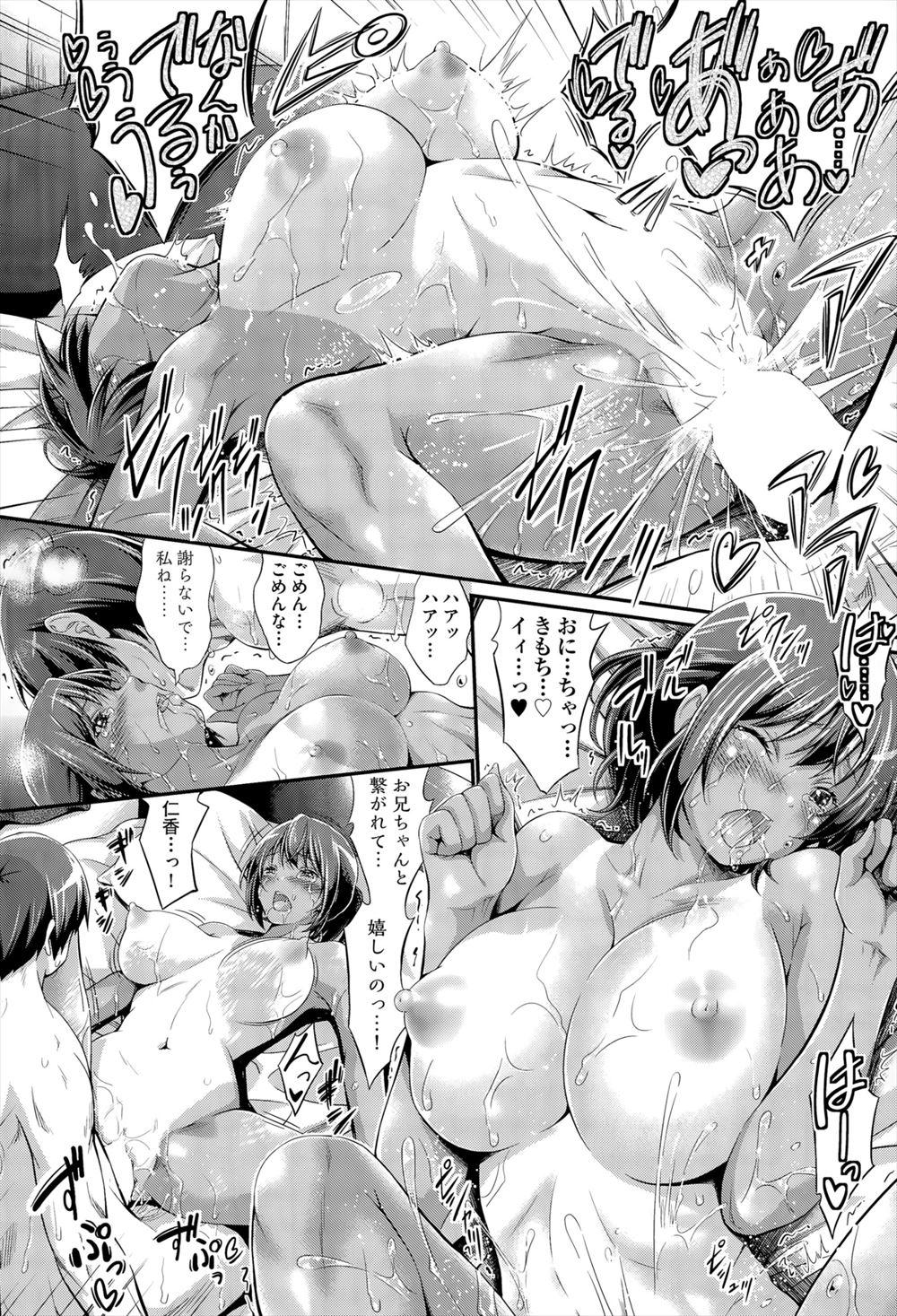 【エロ漫画・エロ同人誌】彼女にフラれたお兄ちゃんが巨乳の妹からエッチに慰めてもらうwww (22)