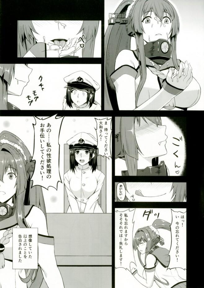 秘密というのは提督はふたなりなんですw提督に想像していた以上のことを告白されましたwww【艦これ エロ漫画・エロ同人】 (7)