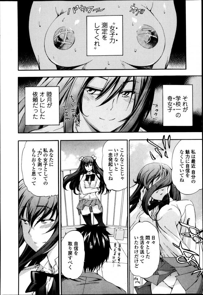 【エロ漫画・エロ同人】奇人だけど一途なJKに、自信つけるための女子力測定以来されおまんこも測定したら好きになったw (6)