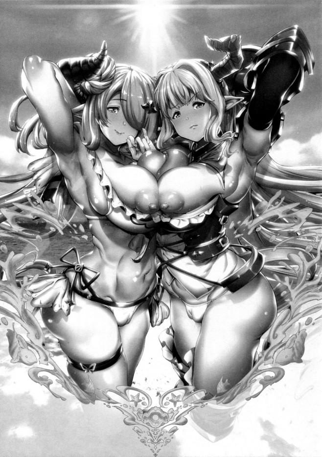 ブサメングランに雌豚にされる女性たちwww監禁調教や青姦までwww【グラブル エロ漫画・エロ同人】 (2)