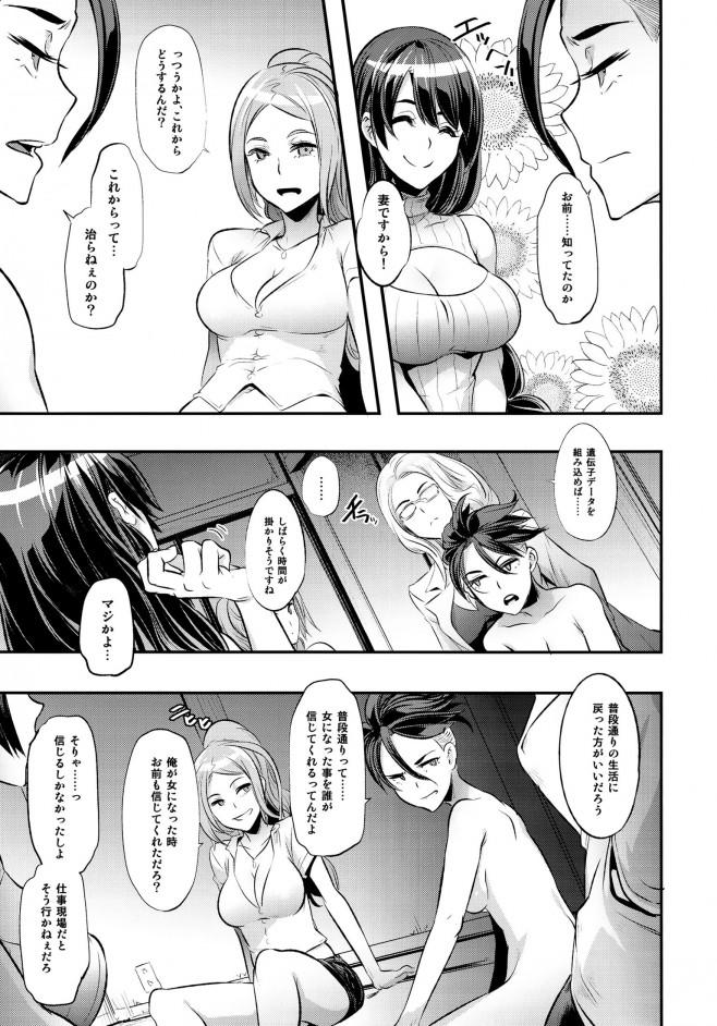 【エロ漫画・エロ同人】寝込んで起きたら女になってて職場でまわされ肉便器にされて・・・ (7)