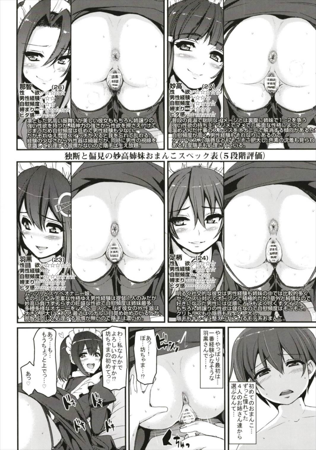 【艦これ エロ漫画・エロ同人】元艦娘の妙高4姉妹の下着を盗んだショタが初めてのセックスを仕込まれてえっちなお仕置きwwwww (17)