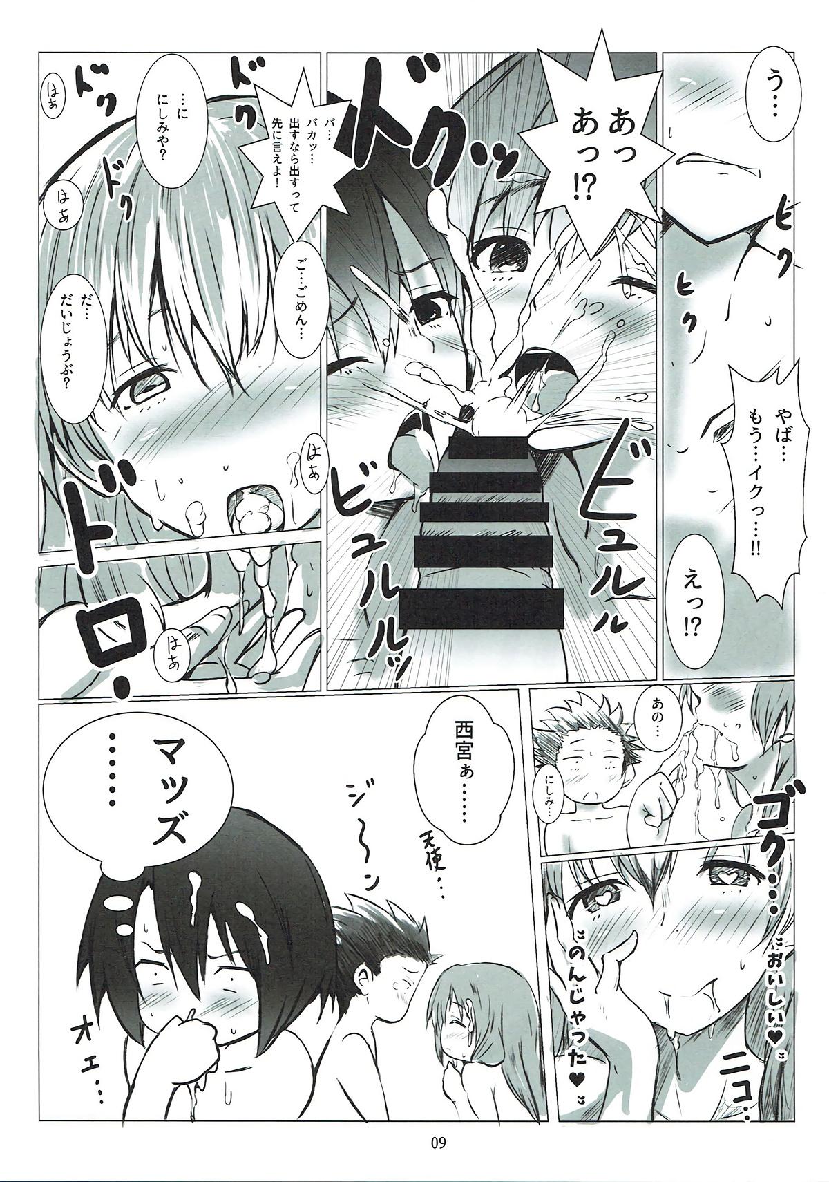 【エロ同人誌 聲の形】石田将也が西宮硝子と西宮結絃と3Pセックス!!【玩具家電 エロ漫画】 (8)