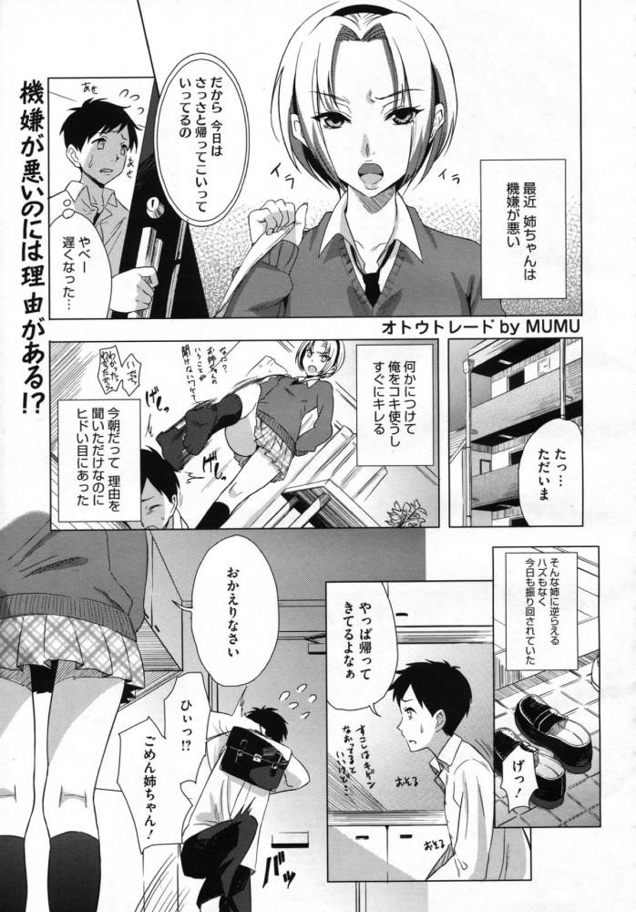 【エロ漫画】弟をスワッピングして性欲を満たす2人のヤリマン女子校生ww【MUMU エロ同人誌】 (1)