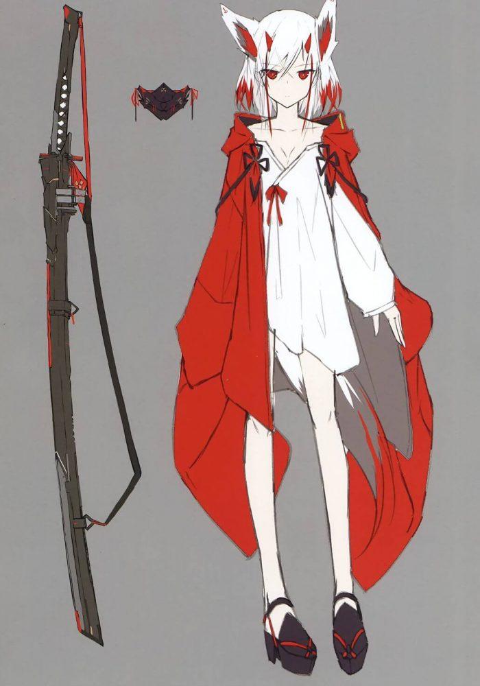 【エロ同人】フルカラーイラスト集☆ケモミミ巨乳美少女や角の生えてる少女など!刀をもった少女メインの非エロ作品となっております。 (7)
