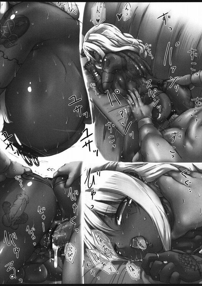 【みなみけ エロ同人】黒ギャル内田ユカがAV撮影で外人と乱交して代わるがわる犯されながら朝までまわされ続けちゃうよ~ボテ腹ファック願望がある爆乳ビッチが毎晩大量のザーメンを子宮に注がれちゃってる! (12)