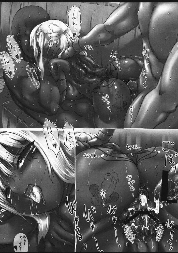【みなみけ エロ同人】黒ギャル内田ユカがAV撮影で外人と乱交して代わるがわる犯されながら朝までまわされ続けちゃうよ~ボテ腹ファック願望がある爆乳ビッチが毎晩大量のザーメンを子宮に注がれちゃってる! (18)