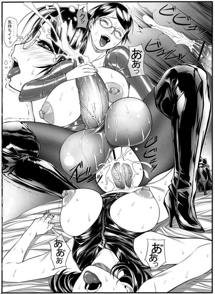 【エロ漫画同人誌】【果物物語】ナンパされたフタナリJKがホテル連れ込まれチンポ舐められ射精しちゃってるww拘束されたまま強制的にイラマチオさせられ濃厚ミルク出されアナルファックでケツ穴犯されちゃってるよ~ (17)