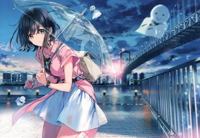 【エロ同人誌】非エロフルカラーイラスト集。JKが雨の中で傘をさして雨が降るときだけ死んだ生き物を蘇らせたり…【atelier Tiv artworks エロ漫画】 (10)