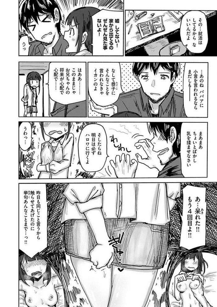 【エロ漫画】ダメ兄貴が「おっぱい揉ませてくれたら明日から就活行く」とか言うから…【無料 エロ同人】 (2)