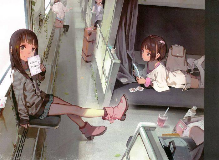 【エロ同人誌】貧乳JSたちが野外でパイパンロリまんこを見せておじさんにおしっこぶっかけちゃってるよww【無料 エロ漫画】 (9)