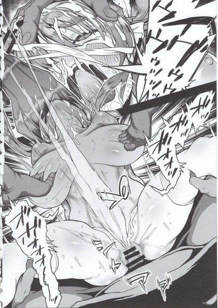【エロ同人誌】爆乳JKが輪姦中出しレイプ陵辱されまくって肉便器に…!マンコに男根2本挿しされたりアナルファックまで…【無料 エロ漫画】. (13)