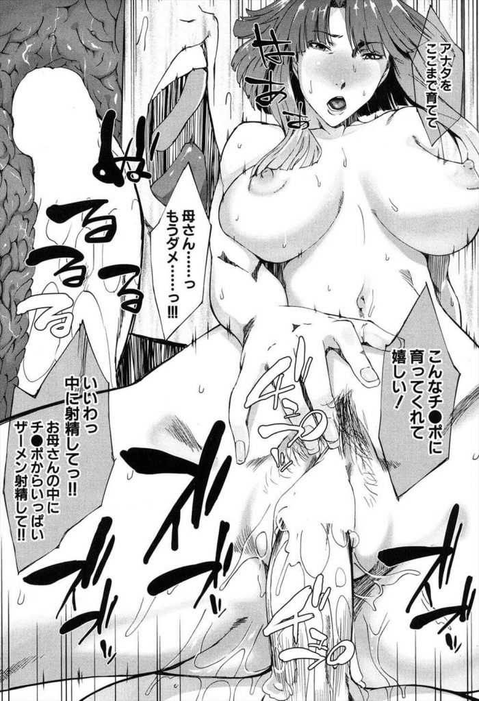 【エロ漫画】巨乳の母のオナニーを目撃してしまった息子が近親相姦セックスしちゃうオリジナル作品。【無料 エロ同人】 (25)