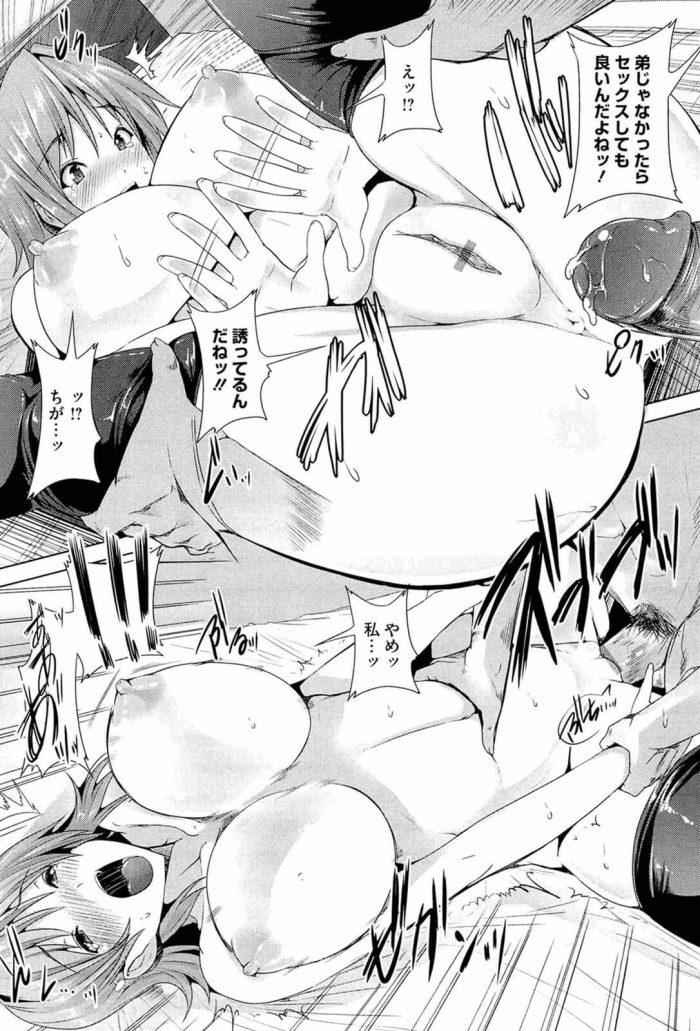 【エロ漫画】巨乳の姉のブラジャーを使ってメイド・コスプレした姉とのセックスを妄想してオナニーする弟【無料 エロ同人】 (14)