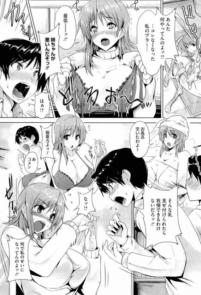 【エロ漫画】巨乳の姉のブラジャーを使ってメイド・コスプレした姉とのセックスを妄想してオナニーする弟【無料 エロ同人】 (7)
