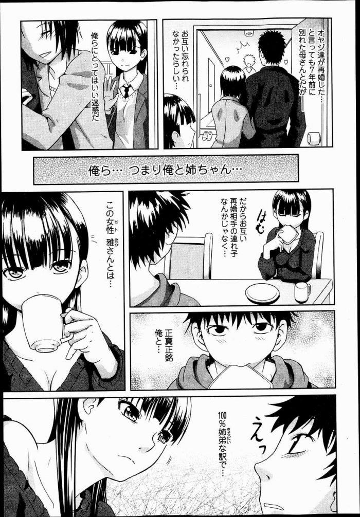 【エロ漫画】元夫婦同士の両親が再び結婚して7年ぶりに一緒に暮らすことになった姉弟がセックスしちゃうww【無料 エロ同人】 (3)