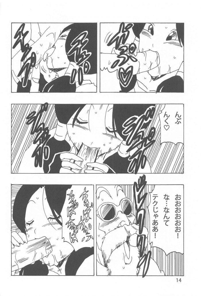 【エロ同人 DB】武術を習いにカメハウスを訪ねたビーデルが亀仙人と中出しセックス!【無料 エロ漫画】 (15)