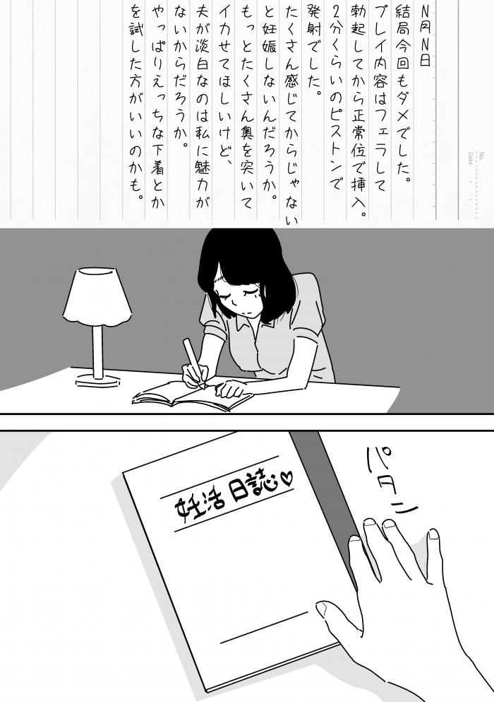 【エロ同人誌】妊活がなかなかうまくいかない人妻が精子バンクで他の男たちとのセックスにハマる!【無料 エロ漫画】 (6)