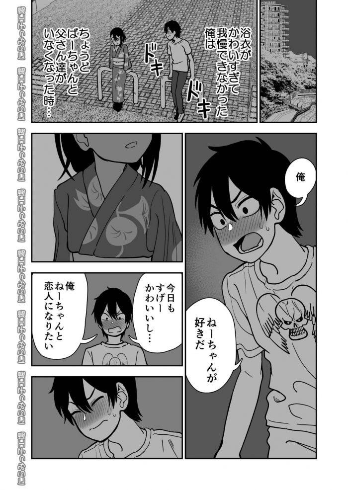 【エロ同人誌 前半】巨乳JKのお姉ちゃんのことが女として好きなショタが妄想オナニー!【無料 エロ漫画】 (6)