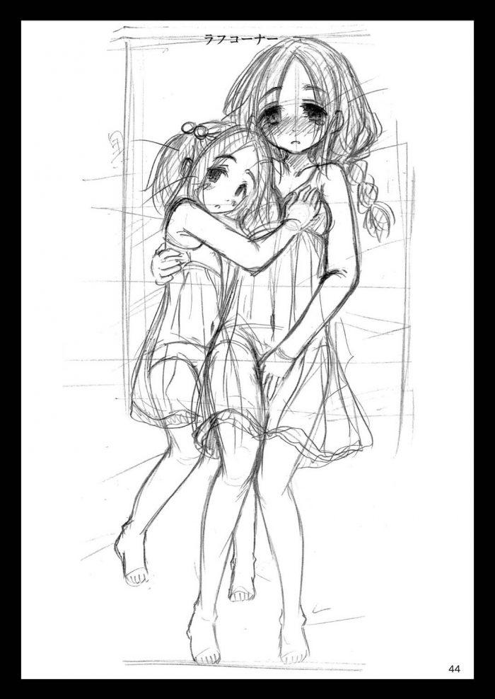 【エロ同人誌】学校から帰ってきて貧乳の次女のオナニーを見てしまったお兄ちゃんが欲情して兄妹3P姉妹丼!【無料 エロ漫画】 (43)